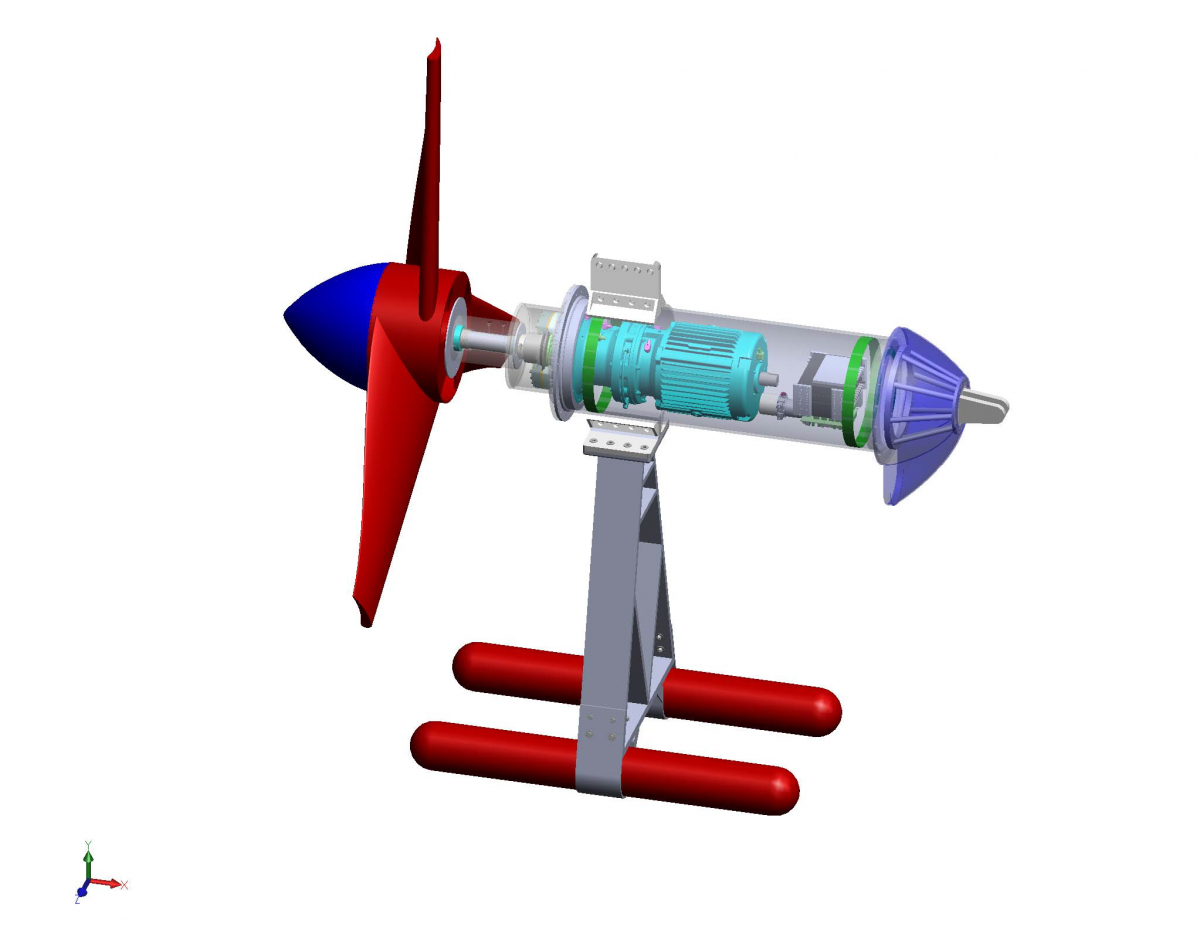 SNMREC Small-scale Experimental Research Ocean Current Turbine
